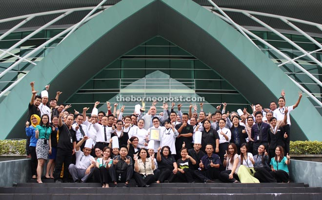 BCCK management and staff pose with the rAWr Award Malaysia Business Events Awards of Excellence 2015.