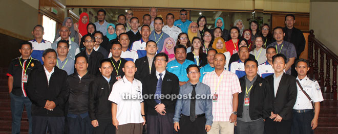 Steward (front fifth right) with the seminar participants.