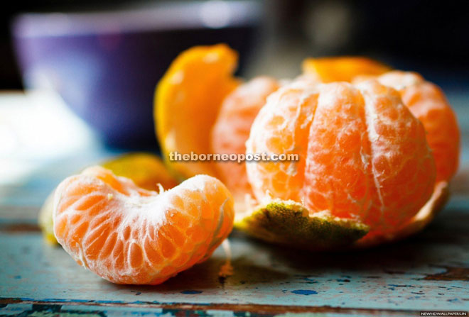 Mandarin orange is rich in vitamins, minerals and other nutrients.