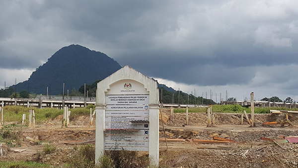 The construction site of SMK Singai.