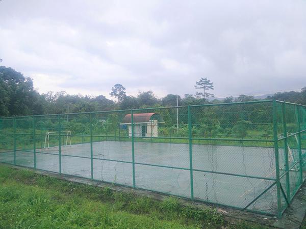 A futsal court at Kampung Skibang.