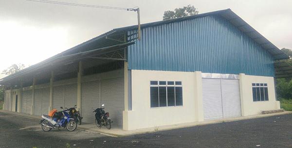 A community hall at Kampung Skibang.