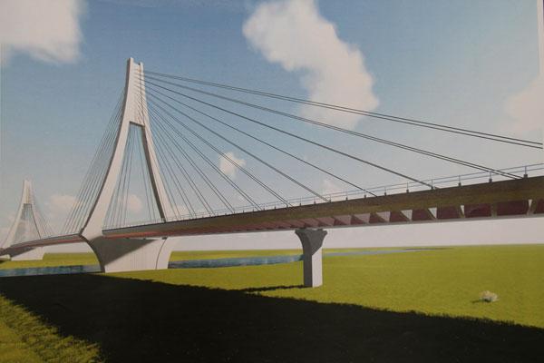 The RM150 million Limbang Bridge.