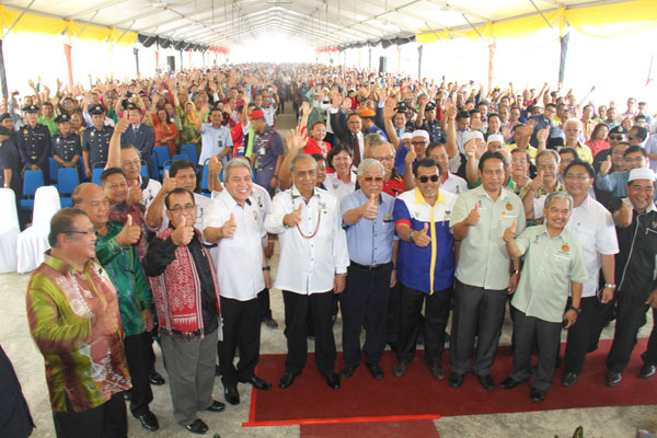 A united Limbang BN front in support of Chief Minister Adenan to bring about greater progress.