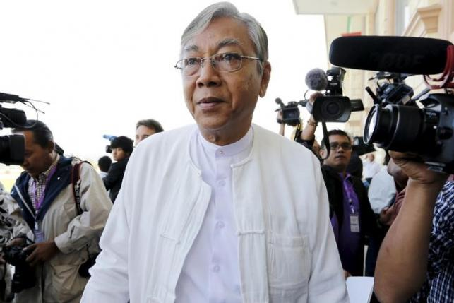 Central executive committee member of the National League for Democracy U Htin Kyaw arrives for the opening of the new parliament in Naypyitaw February 1, 2016. REUTERS/Soe Zeya Tun/Files