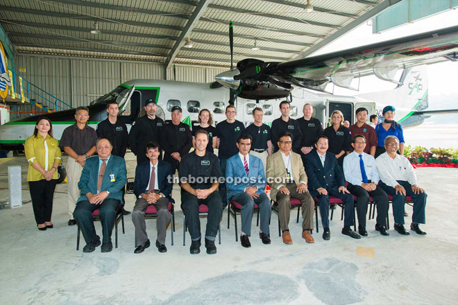Sam (seated fourth from left) with representatives from other government agencies, Layang-Layang Aerospace Sdn Bhd and the CAO team.