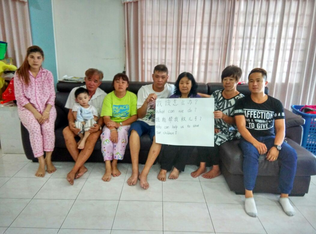 Family members of the hostages appealing for help.