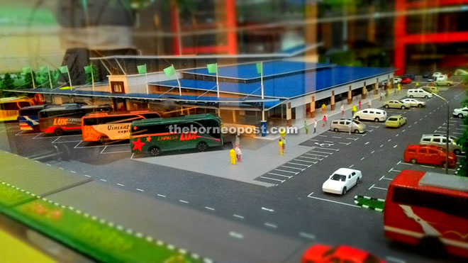 A model of the new open air market and bus terminal in Sri Aman.