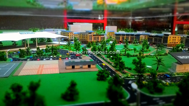 A model view of the new Sri Aman Township.