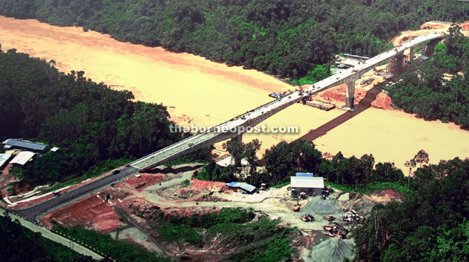 The first component of the project, the Batang Baleh bridge, was completed last December.
