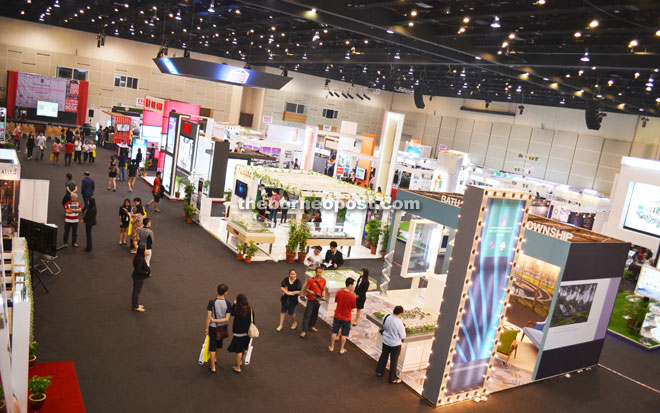 Property Exhibition Booth : Sheda property expo at bcck from sept to borneo post