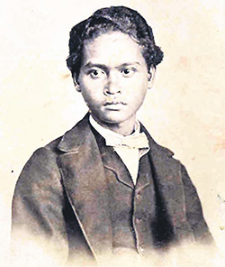 The only surviving photo of Ali, which was shot before he and Wallace parted ways in 1862. The image was published in the book 'My Life: A Record of Events and Opinions' penned by Wallace.