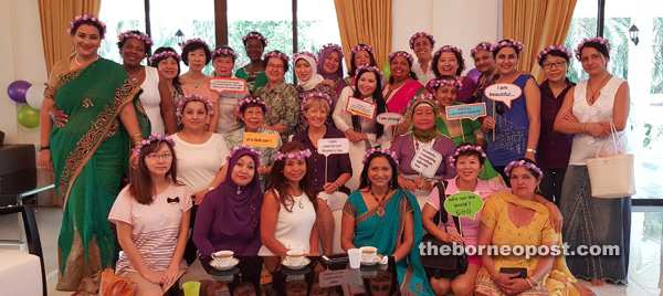 Members of the Miri Outpost and Miri Petroleum Ladies Association (PWPM), most of whom are expatriate wives, among those eager to know more about Miri.
