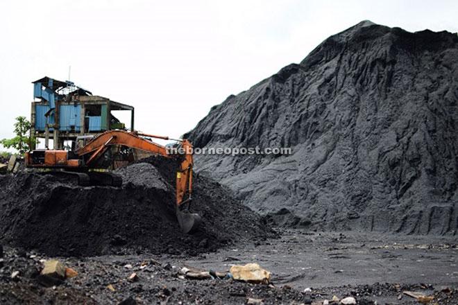 The coal mine in Abok.