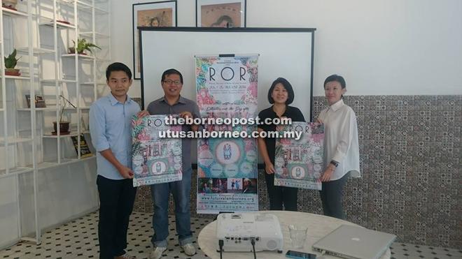 Anton (second left) promoting the third Borneo Rhythms of Rimba Wildlife Festival.
