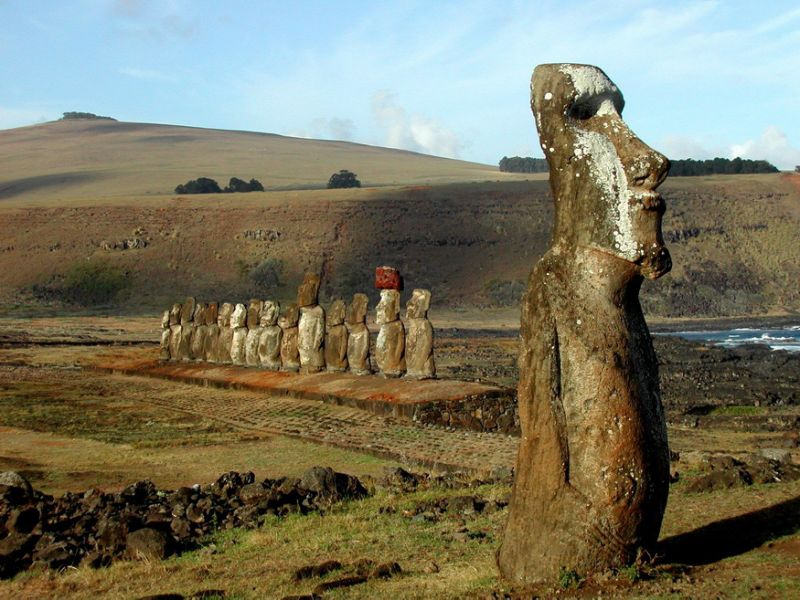 Easter Island, which is home to 6,000 people and the famed ancient statues of the Rapa Nui people, is located about 3,500 kilometers (2,200 miles) off the Chilean mainland. Photo by AFP