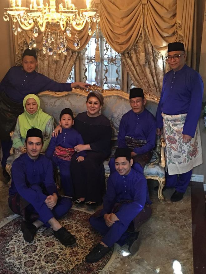 Emma with her family, including her second son actor Haris Zainuddin.