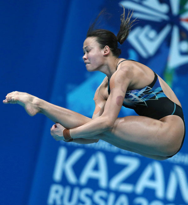 Pandelela competes in the Women's 10m platform final diving event at the 2015 FINA World Championships in Kazan in this July 30, 2015 file photo. — AFP photo