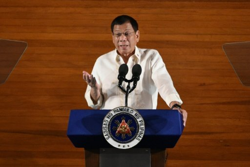 Philippine President Rodrigo Duterte has listed seven judges and over 25 current or former congressmen, mayors and other local officials whom he alleges are involved in illegal drugs. Photo by AFP