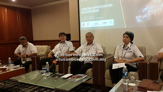 (From left) Rohizam, Kon, Hamzah and Dayang Azizah brief reporters on APeco 2016 during a press conference held at a hotel here yesterday.