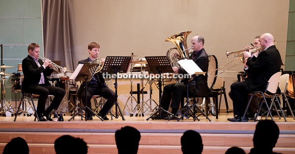 Onyx Brass in action for the first time in Kuching with SJS Band in 'A Brass Spectacular'.