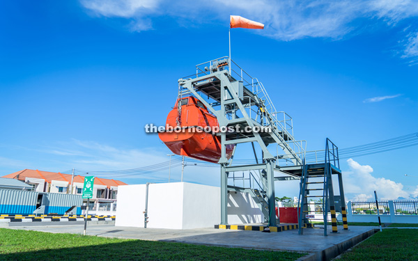 This lifeboat launching training mechanism is one of many facilities at the centre.