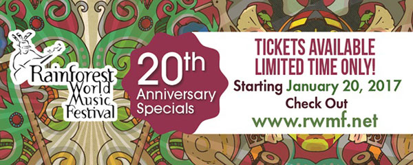 The Rainforest World Music Festival today launched its special entrance tickets.