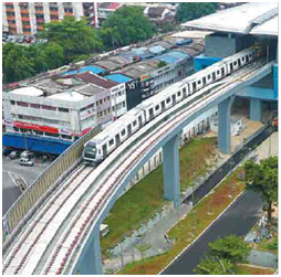 Figure 1 - Malaysia's first MRT Line 1 spans over 51km and 31stations