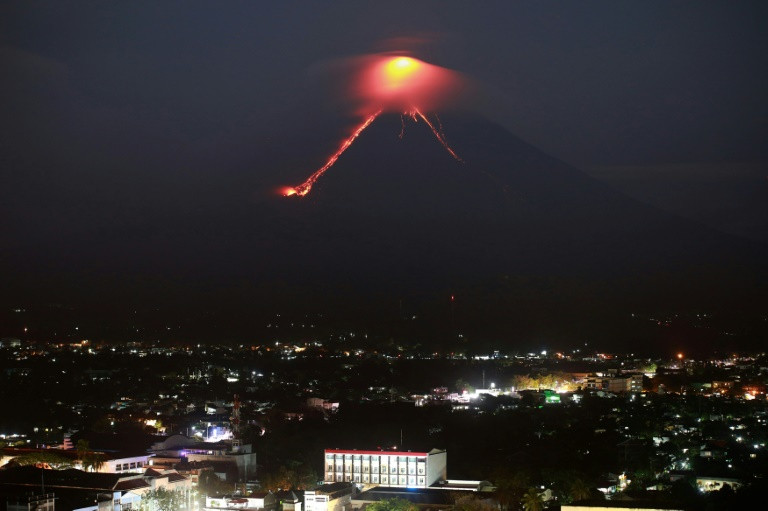 Philippine Volcano Fireworks Draw Tourists As Residents Flee