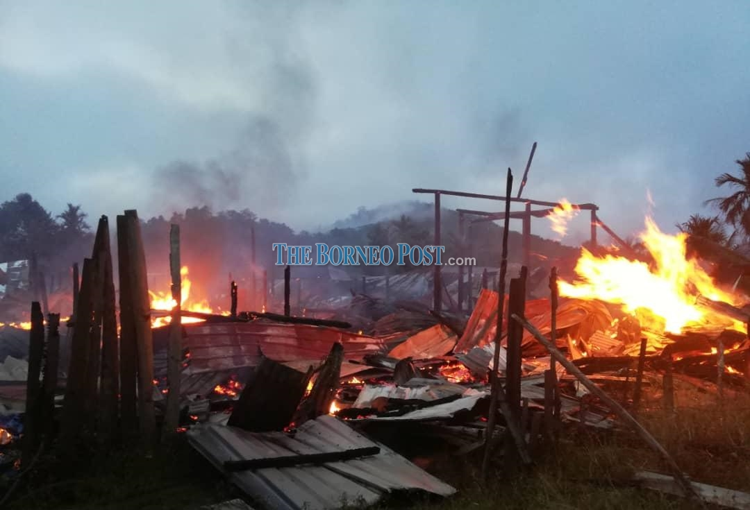 Long Palai longhouse destroyed in early dawn blaze | Borneo Post Online