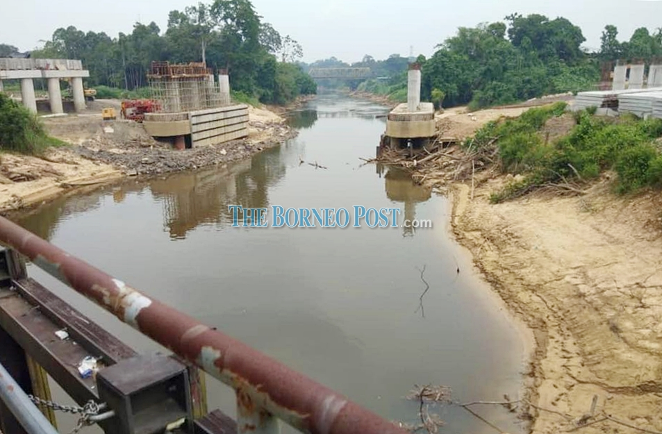 Raw water supply at Selangau Water Treatment Plant beginning