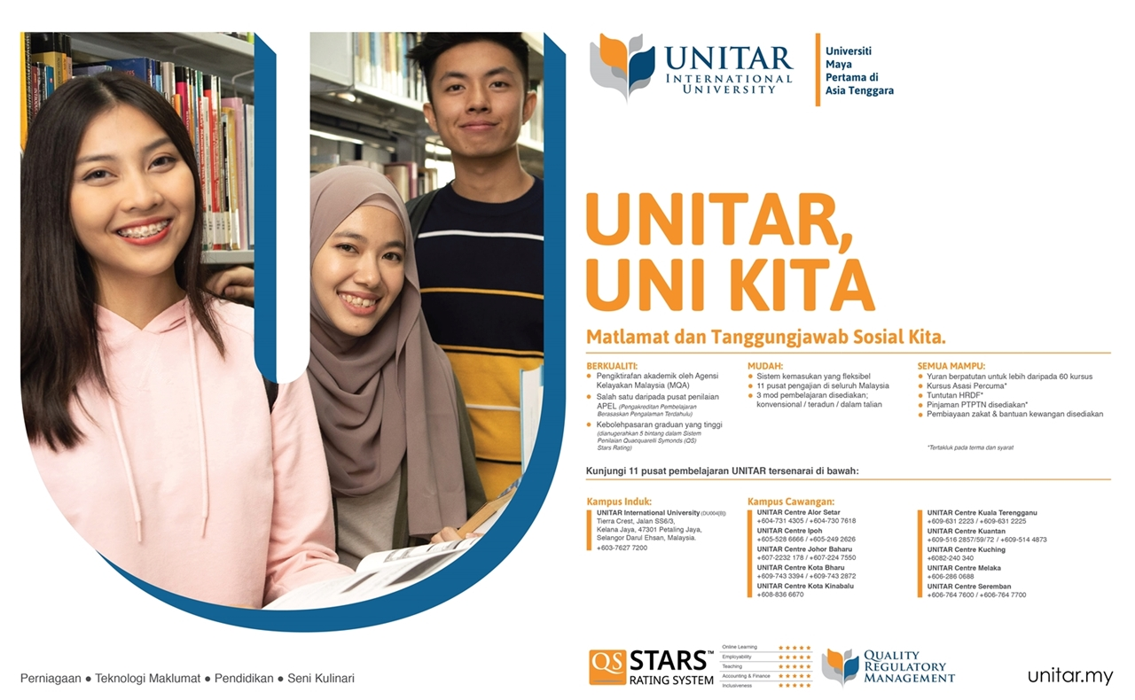 Your Future Starts With Unitar Asia S First Five Star Online International University Borneo Post Online